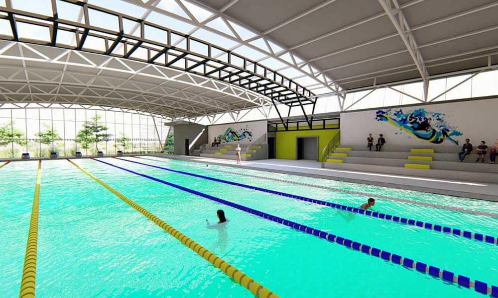 Esta es la maqueta de la piscina olímpica que se construirá en el cantón de Pérez Zeledón.