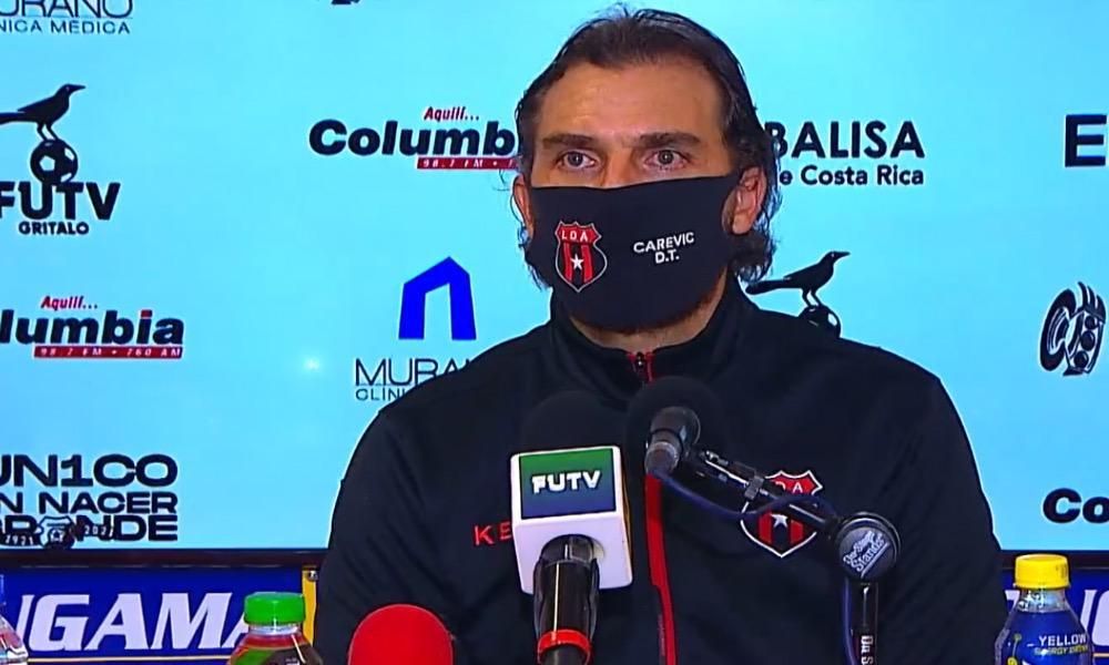 Andrés Carevic, técnico de Alajuelene, defendió que su equipo jugó ante un gran rival. Por ello, aceptó el empate frente a Herediano.
