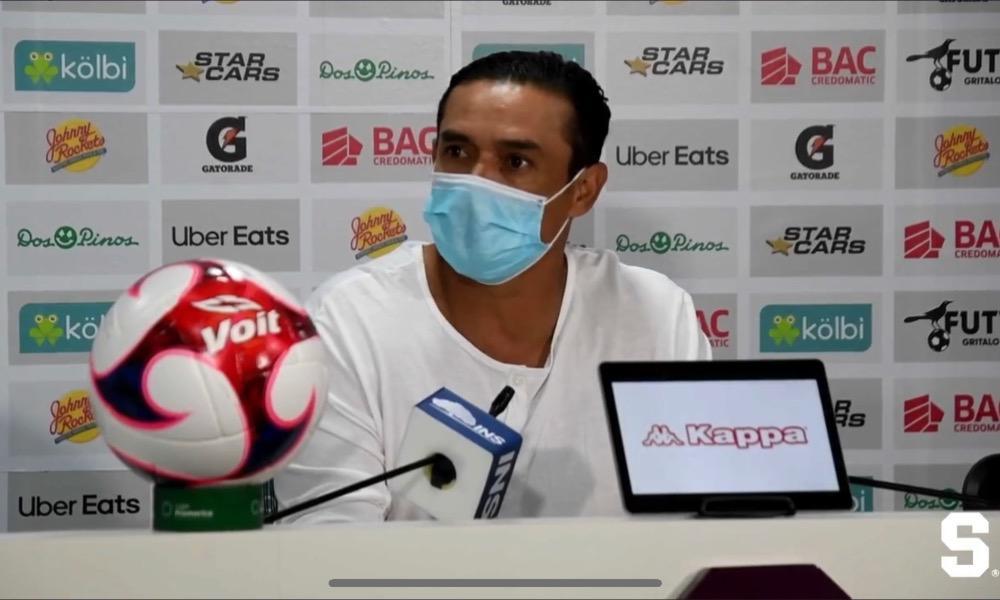 Walter Centeno dice que salió con rabia después del empate ante Jicaral, esta noche.