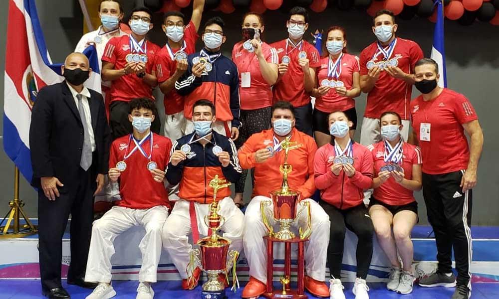 La delegación costarricense sumó suficientes medallas para dejarse el tercer lugar n el Centroamericano de Karate, en Nicaragua.