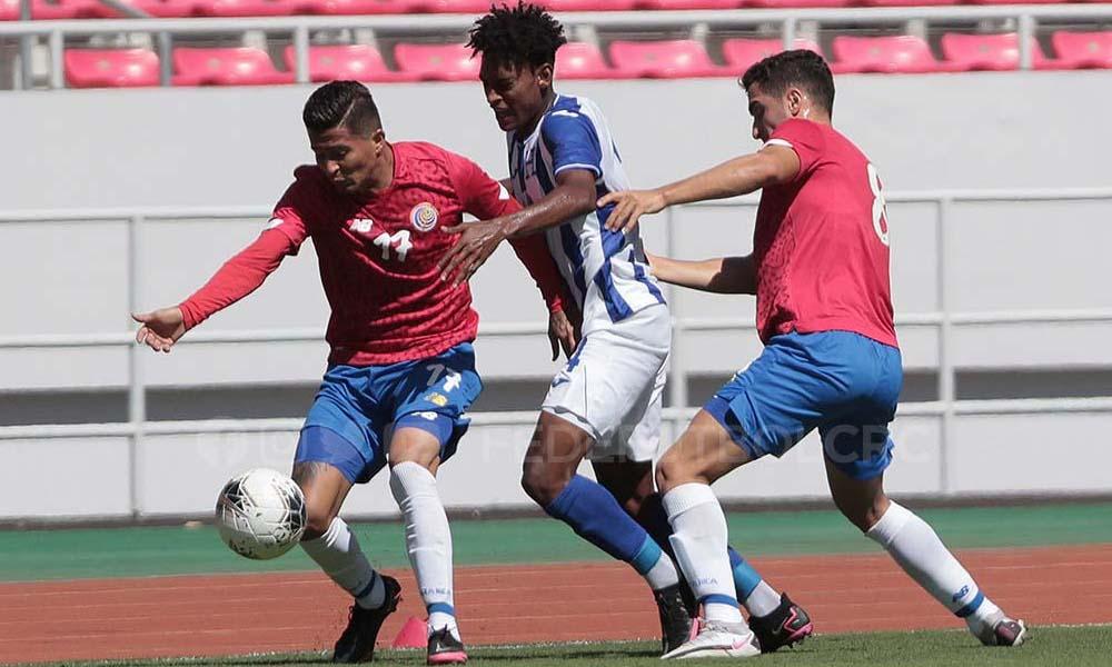 La Sele Preolímpica no encontró goles en el fogueo de este martes, ante Honduras.