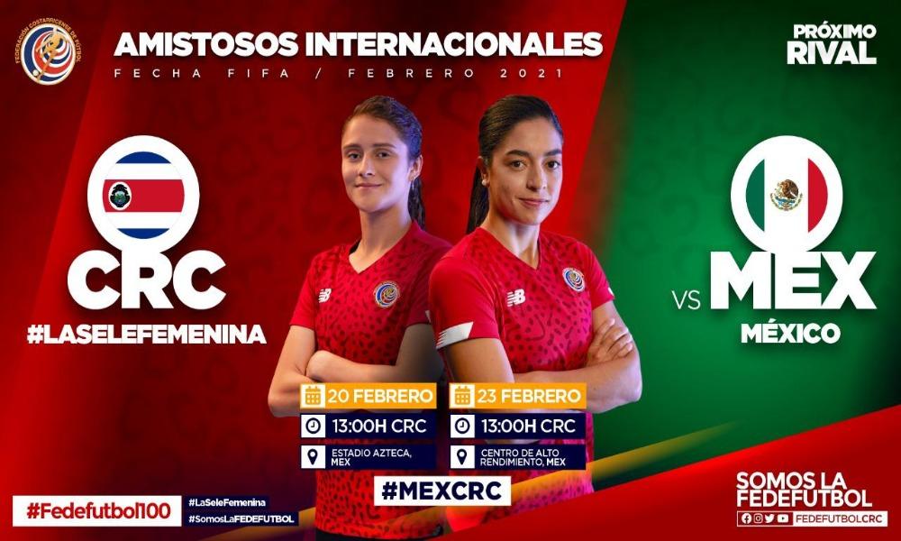 Este lunes la FEDEFUTBOL oficializó los dos juegos de fogueos de la Sele Femenina ante México; dos semanas después de que lo hicieron los mexicanos.