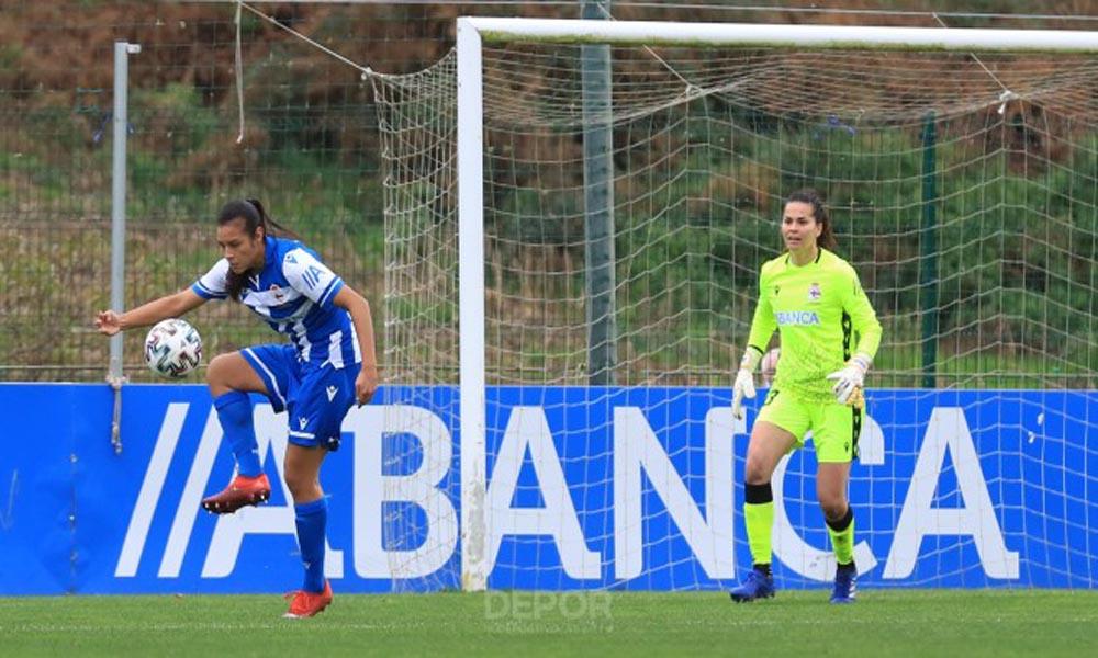 Con esta imagen, el Deportivo La Coruña anunció la convocatoria de las jugadoras Stephannie Blanco y Noelia Bermúdez a La Sele Femenina.