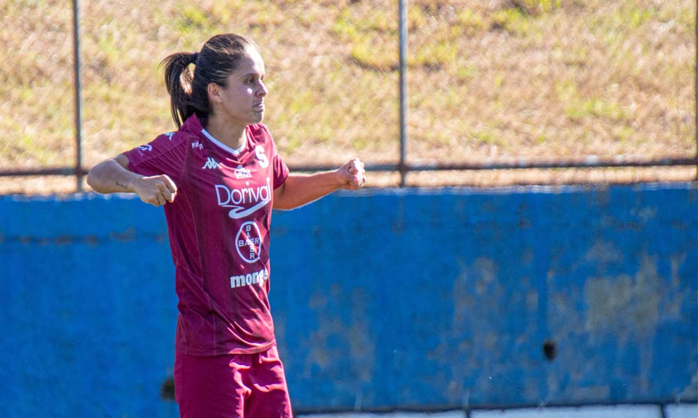 Katherine Alvarado marcó doblete ante Pococí esta tarde. El primer tanto fue su gol 100 con la camiseta del Saprissa.