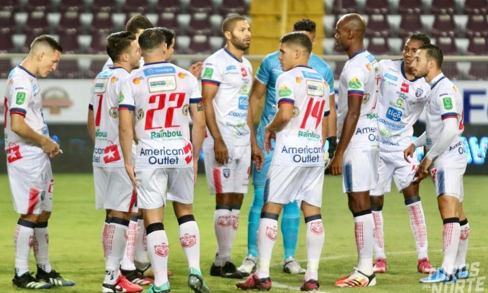 San Carlos sumó un punto esta noche ante el Deportivo Saprissa, tras el empate 1 – 1.