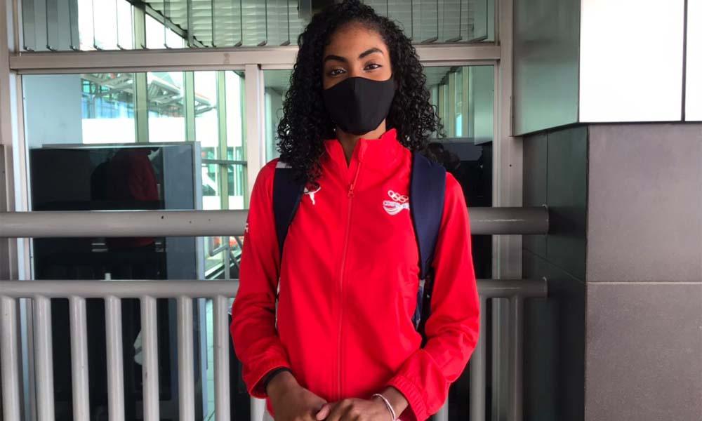 Neshy Lee Lindo partió esta mañana a Tokio para sumarse a la delegación olímpica de Costa Rica. Competirá el Taekwondo el domingo. Foto: CON.