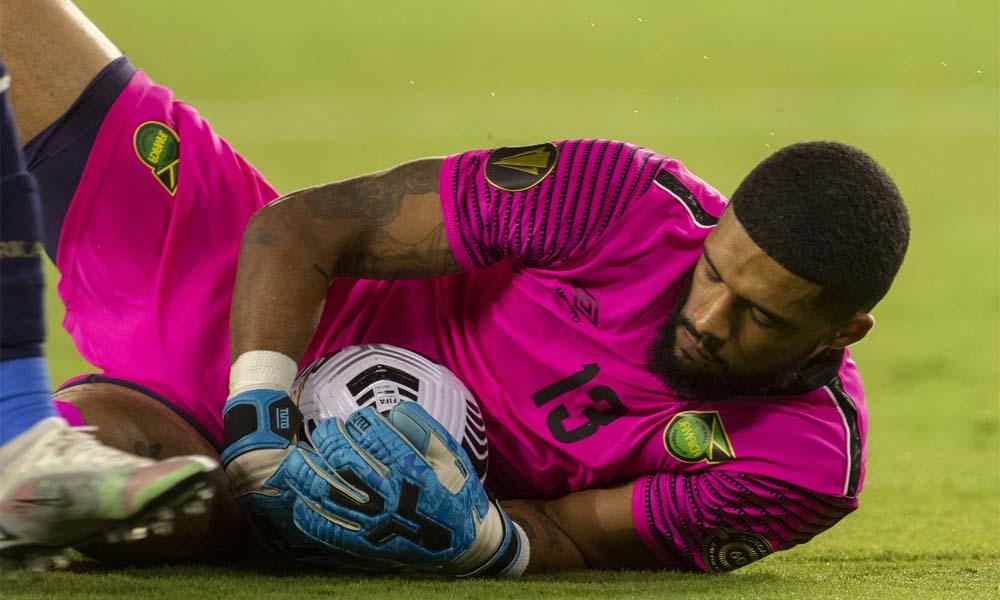 El portero Patrick Sequeira no pudo debutar con la Selección Nacional de Fútbol Mayor esta noche debido a una lesión. Foto: CONCACAF.